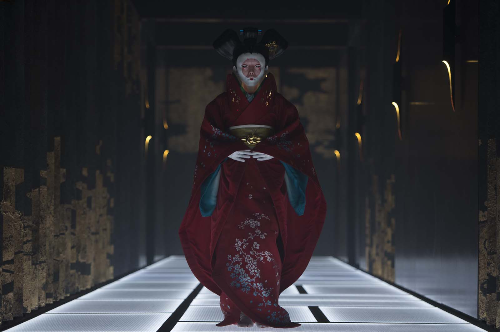 Rila Fukushima plays Geisha in Ghost in the Shell from Paramount Pictures and DreamWorks Pictures in theaters March 31, 2017.
